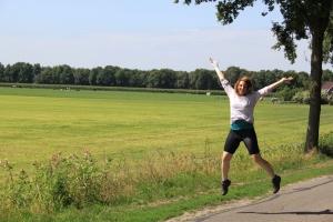 Glad över att äntligen vara i Nederländerna!